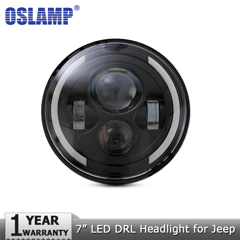 Oslamp 7inch LED Headlight Bulbs H4 H13 Hi lo Headlamps Led Driving Light 12v for Jeep CJ/Wrangler JK /Land Rover/Hummer/Harley 7inch for jeep led headlight 5x7 headlight type led driving light 24v car led headlights 7x6 led headlamp light 5 7inch h4 h l