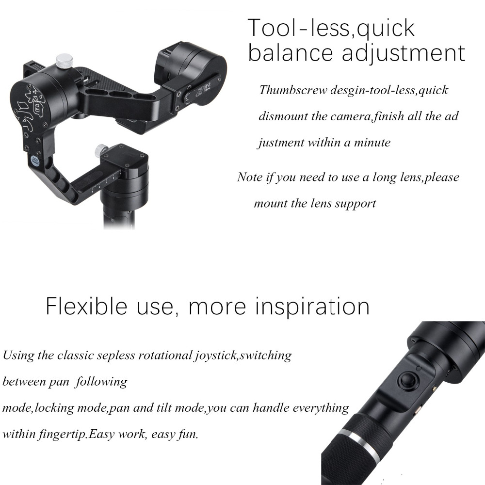 Zhiyun Gimbal Crane V2 3-Axe Bluetooth Handheld Gimbal Stabilizator - Camera și fotografia - Fotografie 6