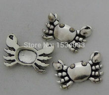 Free shipping good selling sea crab charm pendant 5pcs 24*16mm antique silver fit bracelet necklace diy metal jewelry making