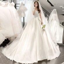 f8c3caaa7154c Glamorous Kapalı Omuz düğün elbisesi Prenses balo elbisesi Süpürme Tren  Vestido De Novia Pleats Kısa Kollu gelin elbiseleri