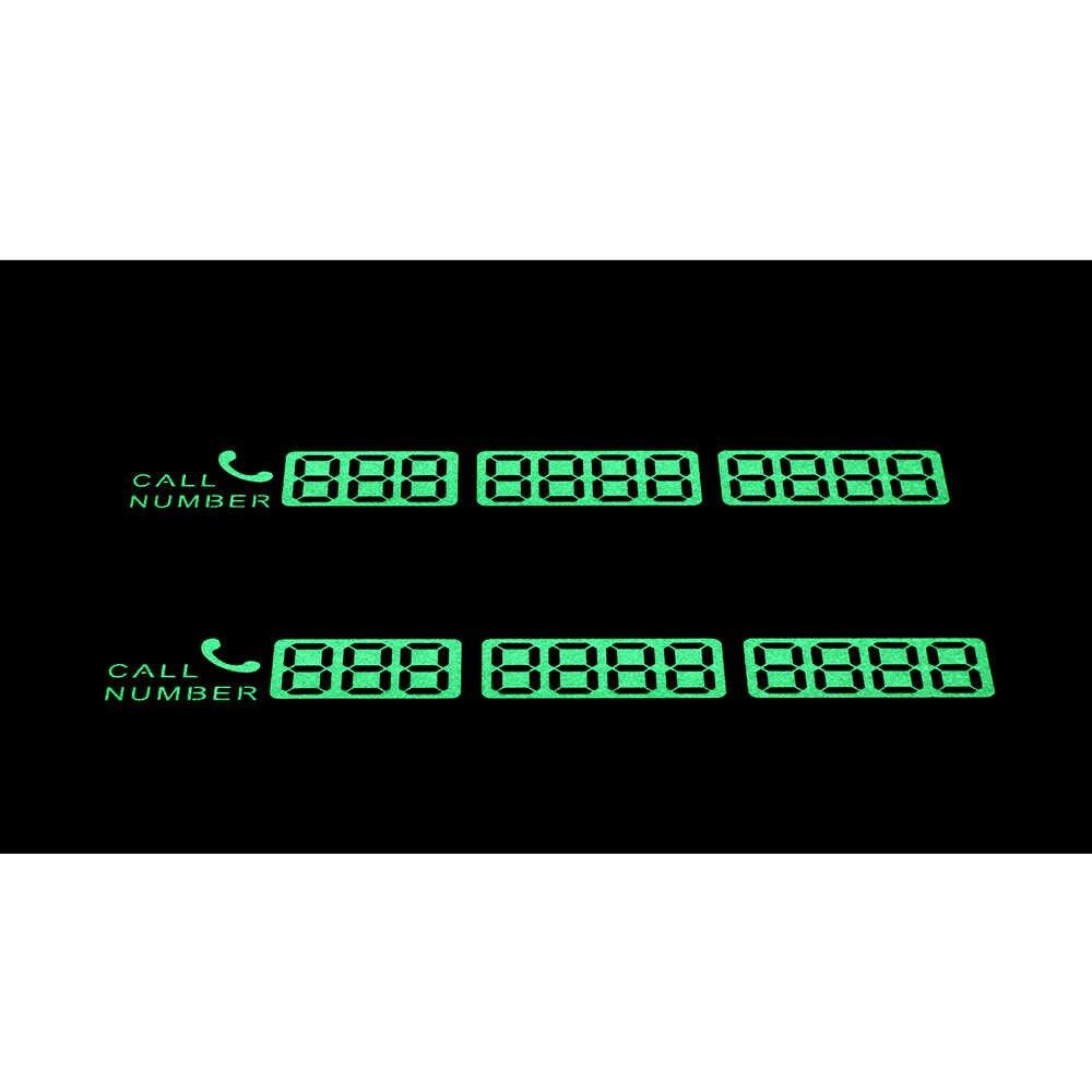 บัตรที่จอดรถชั่วคราวสติกเกอร์หมายเลขบัตรแจ้งเตือน Night Light Sucker Plate Car Styling บัตรโทรศัพท์
