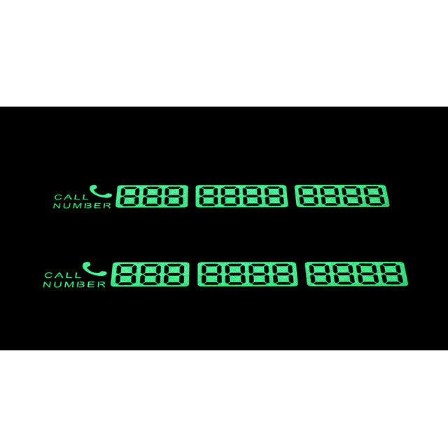 Temporary Car Parking Card Sticker Telephone Number Card Notification Night Light Sucker Plate Car Styling Phone Number Card 2