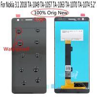 """1 5 lcd Shyueda IPS 100% New AAA+ 5.2"""" For Nokia 3.1 2018 TA-1049 TA-1057 TA-1063 TA-1070 TA-1074 LCD Display Touch Screen Digitizer (1)"""