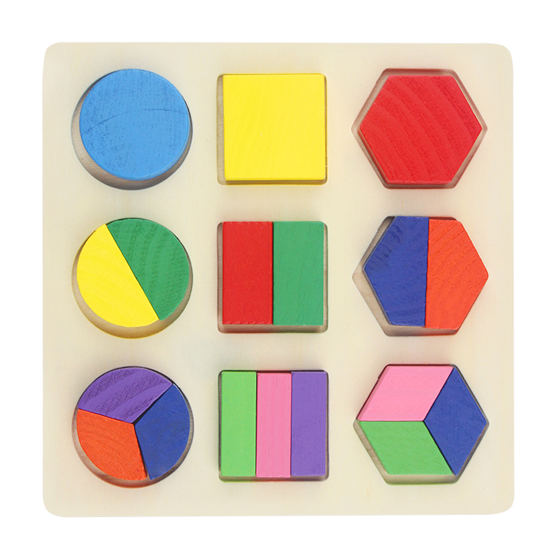 Купить с кэшбэком Learning Education Wooden Toys Children's Puzzle 3D Magic Cube Children's Educational Toys Montessori Puzzle New Year Gifts