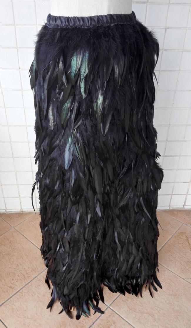 Coque A Noir Livraison Avec Skt15013 Black Ceinture Plume Coq Petit Gratuite Élastique Jupe ligne Longue YBpptq0ZwH