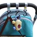 Gancho del cochecito de bebé poliéster nueva moda del cochecito organizador marca sólida accesorios cochecito de bebé para niños cochecito de bebé gancho