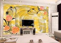 Customized 3d High Quality Wall Papers 3d Wallpaper Living Room Ripple Rose Angel Wall Paper