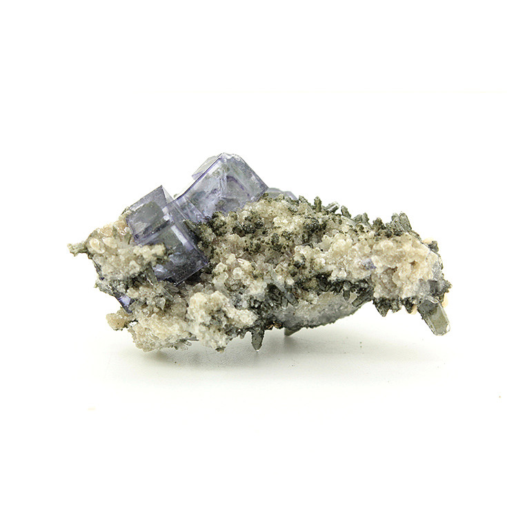 Yaogangxian symbiotic purple fluorite calcite mineral specimens teaching specimens small ornaments favorites Extraordinary Gifts