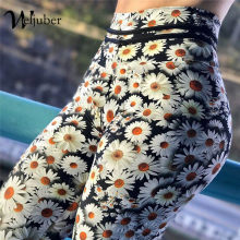 Weljuber Flower Prints Leggings 2018 New Fashion Womens High Waist Push Up Hips Leggings Sexy High Elastic Skinny Trousers(China)