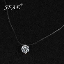 Linha de pesca transparente colar para mulher pingente de cristal na linha collier invisível corrente gargantilha colar jóias