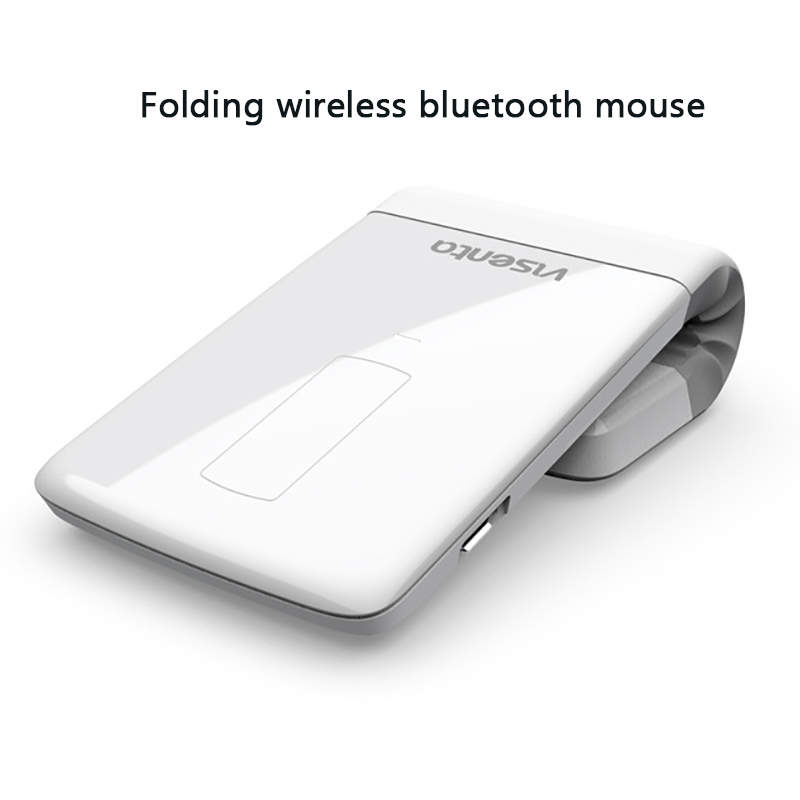2018 New 2000dpi Bluetooth Wireless Mouse Thin And Light Folding Rechargeable Laser For Business Office Notebook