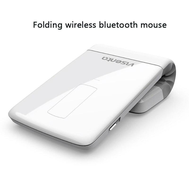 2018 nouveau 2000 dpi Bluetooth souris sans fil mince et léger pliant laser rechargeable pour ordinateur portable de bureau d'affaires