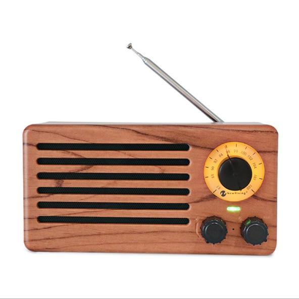 Wireless Wood Grain Retro FM Radio Bluetooth Speaker 10W Digital Stereo Mini Music Player Boombox Support TF USB AUX Sound Box