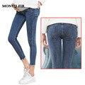 Mutterschaft Kleidung Elastische Weiche Mutterschaft Jeans Dünne Schwangerschaft Hosen Schöne Hose für Schwangere Frauen Frühling Sommer Kleidung