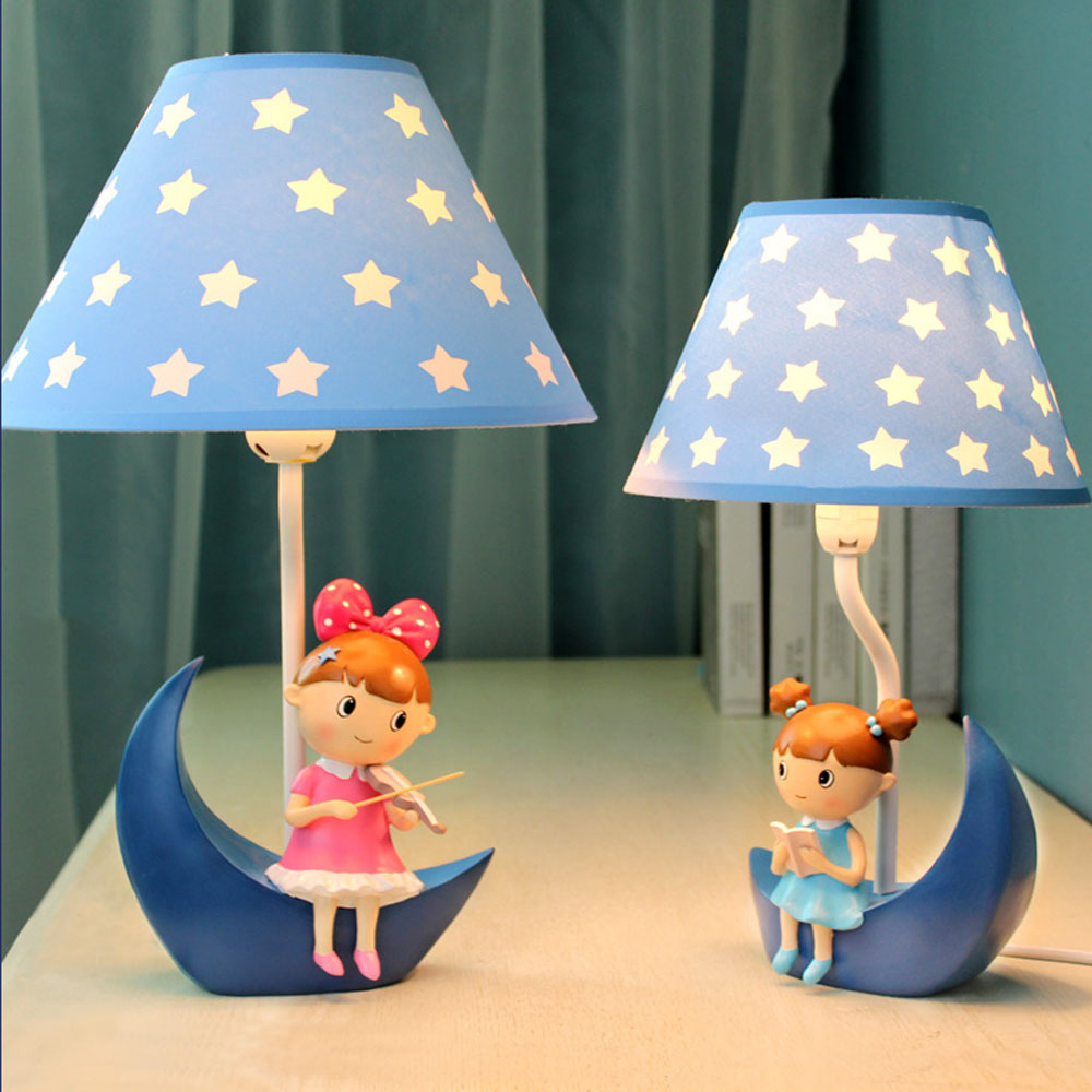 Dimmable Creative Jewelry LED Desk Lamp Boy and Girl Room Bedroom Living Room Feeding Reading Violin Table Lamp