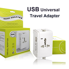 цена на Universal International World AC Electrical Power Plug Travel Socket Outlet Adapter Adaptor Converter 1 USB EU European US UK AU