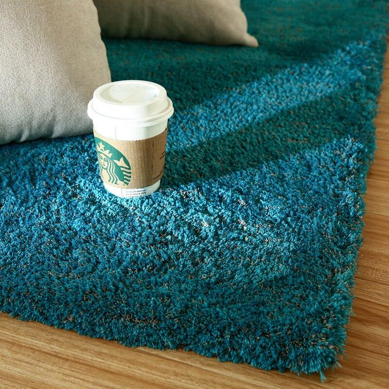 Tapis nordique de luxe pour salon longue qualité de cheveux tapis Polyester épaissi lavé soie cheveux tapis antidérapant grande taille