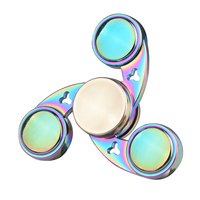 Colorful Finger Fidget Spinner Metal Batman Hand Spinner With Box For Autism EDC And ADHD