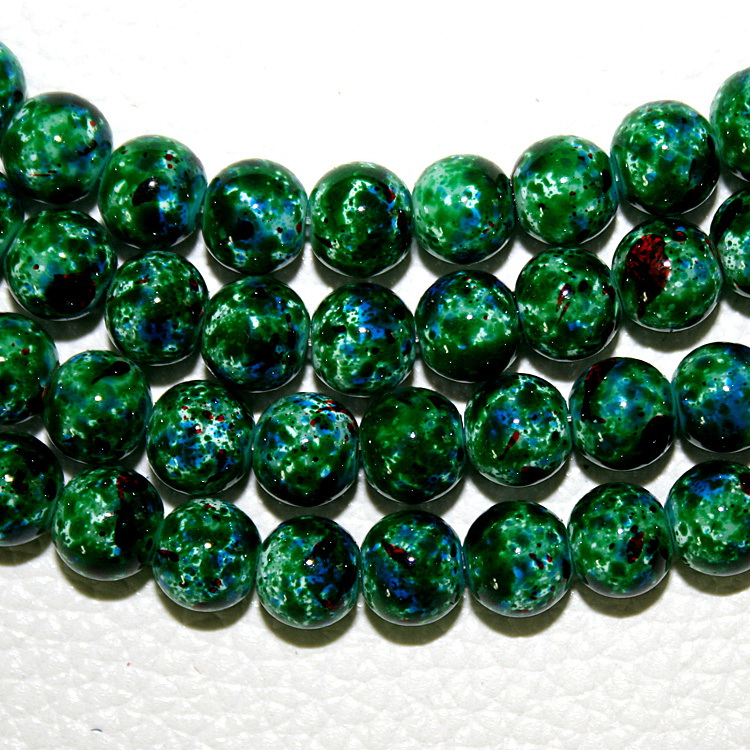 Discounts Price Kind-Hearted Latest Designed Approx 100pcs/lot 8mm Green Glass Round Beads For Jewelry Making & Diy Bracelet painted At Random