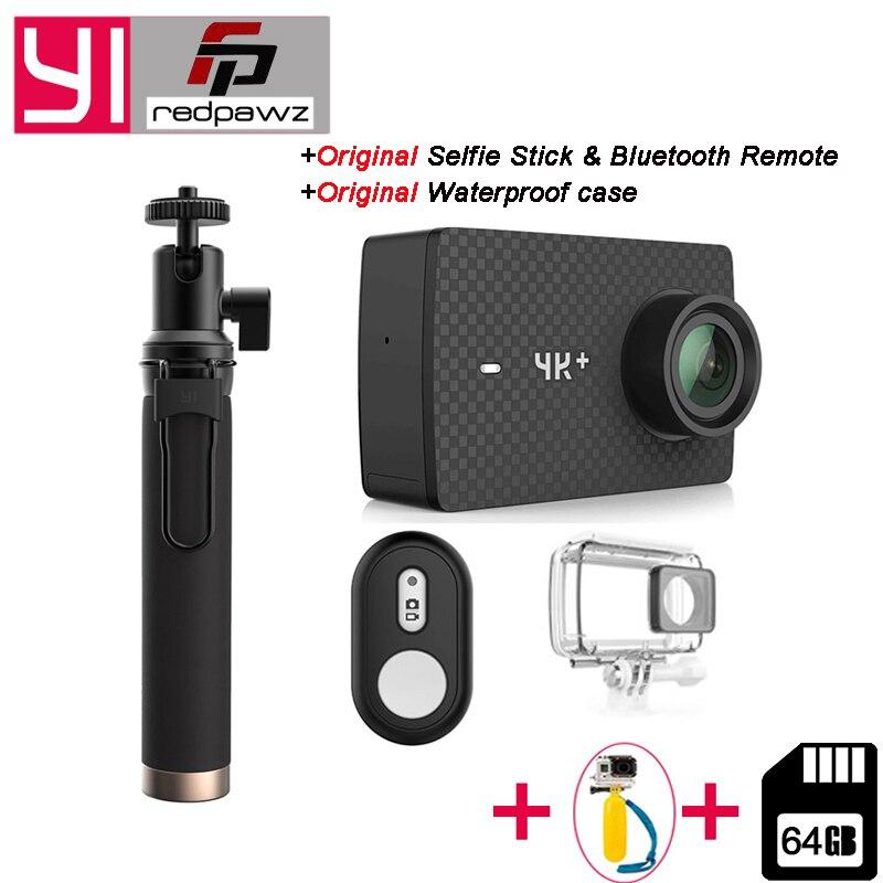 Международный Yi 4k Plus действие Камера 155 градусов 2,19 4 К/60fps Ambarella H2 чип EIS 4 К + спортивные Камера + один бесплатный 64 ГБ SD карты