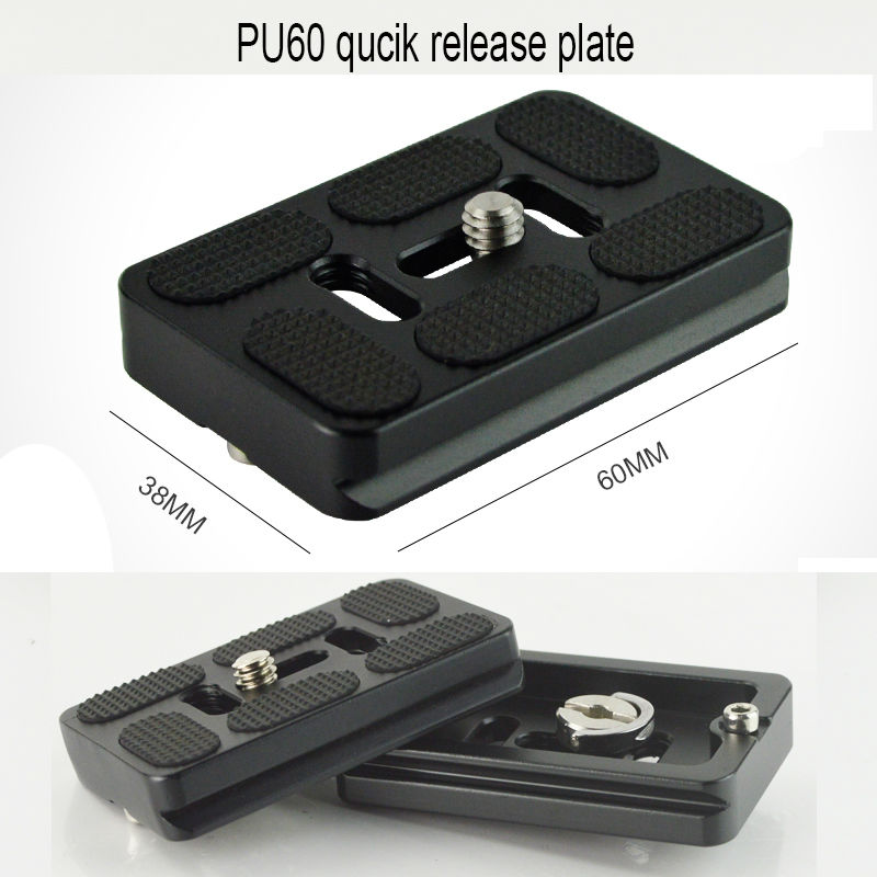 New Professional PU-60 Quick Release Plate Fit for Benro B1 B2 Tripod ball head Arca Swiss 60mm For Universal Digital Cameras