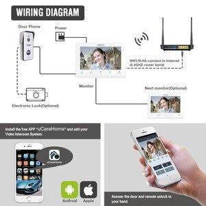 Image 5 - تيميزون اللاسلكية/واي فاي الذكية IP جرس باب يتضمن شاشة عرض فيديو نظام اتصال داخلي ، 10 بوصة 7 بوصة شاشة مراقبة مع 2x720P السلكية باب الهاتف كاميرا