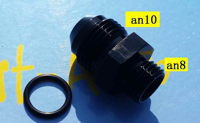 male AN8 ORB ( 8AN AN 8 ) to an10 male Adapter With O-Ring fitting