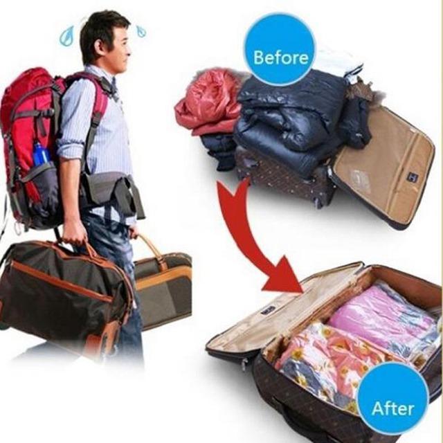 1Vacuum Pc del risparmiatore dello spazio ha compresso il sacchetto dell'organizzatore Abbigliamento Quilt Air Pump sacchetto della guarnizione per l'organizzazione Armadio Armadio 8zcx-ca190
