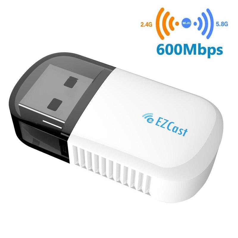 USB2.0 Wireless 802.11 N Adapter Ezcast Wireless USB WIFI Adapter 5G/2.5G Bluetooth 4.2 Dual Band AC 600Mbps 3B12