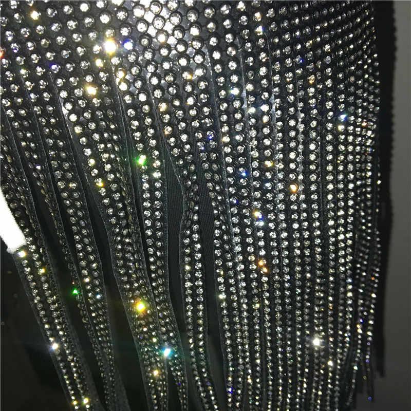 ... Sexy Women Silver Sequins Tassel Skirts Ladies Sparkly Diamond  Rhinestone High waist Body Chain Nightclub Mini 88bbdc919753