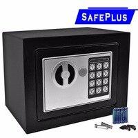 Goplus Durable Digital Electronic Safe Box Mini Money Password Keypad Lock Home Office Hotel Gun Secret