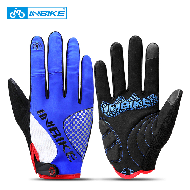 INBIKE Cycling Gloves Full Finger MTB Bike Gloves Touch Screen Anti-slip Wholesale dropshipping Wome Men Cycling Accessories