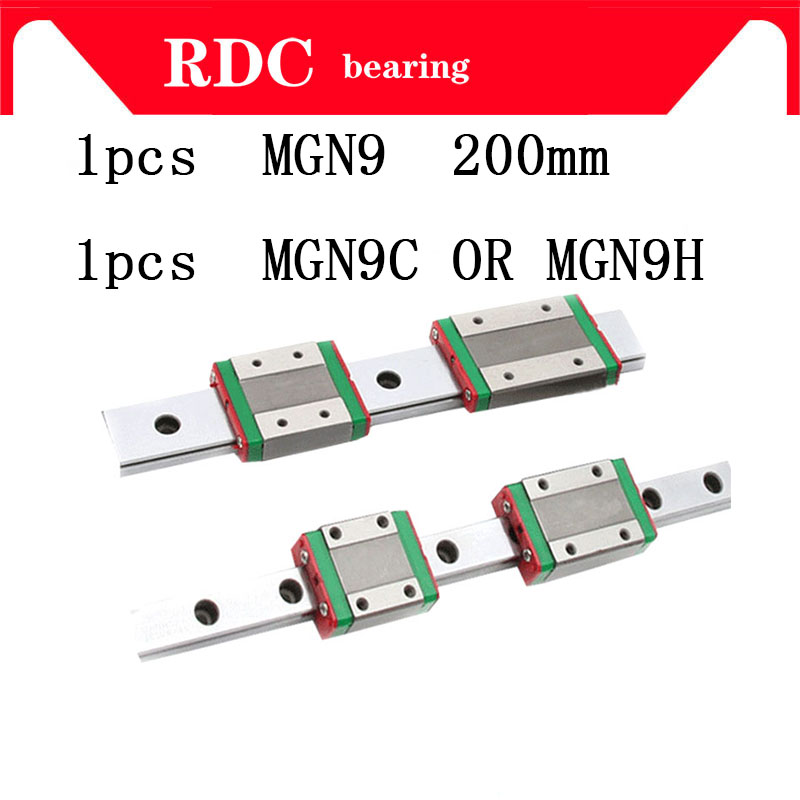 1,2,3pcs 9mm Linear Guide MGN9 L= 200mm High quality linear rail way + MGN9C or MGN9H Long linear carriage for CNC XYZ Axis 1 2 3pcs 9mm linear guide mgn9 l 300mm high quality linear rail way 1 2 3pcs mgn9c or mgn9h long linear carriage for cnc xyz