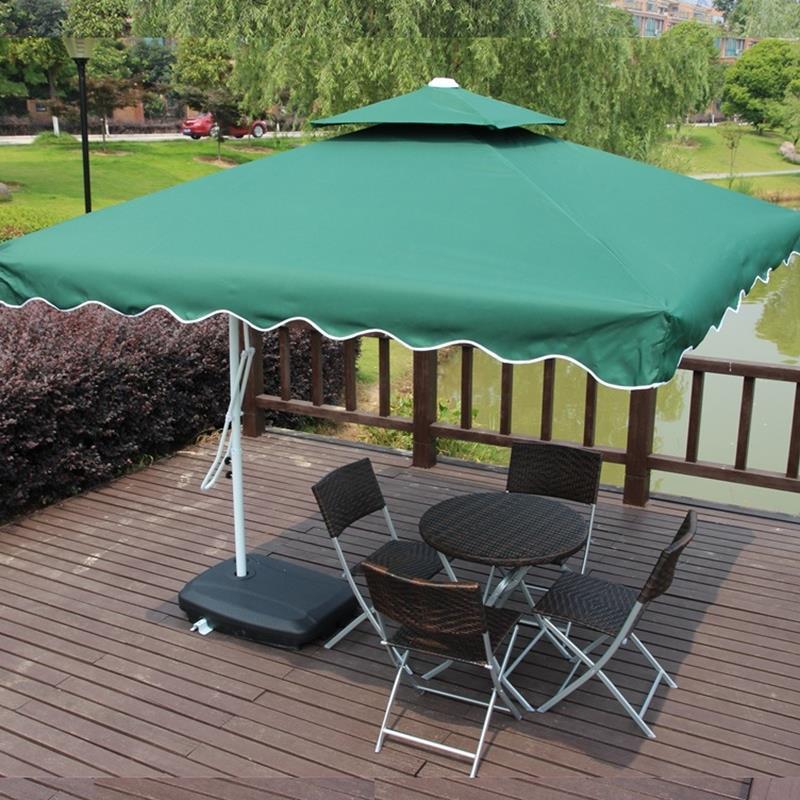Outdoor UV Proof Sunshade Umbrella Folding Beach Umbrella Waterproof Booth Umbrella Sun Shelter Advertising Tent 2.2metre Square
