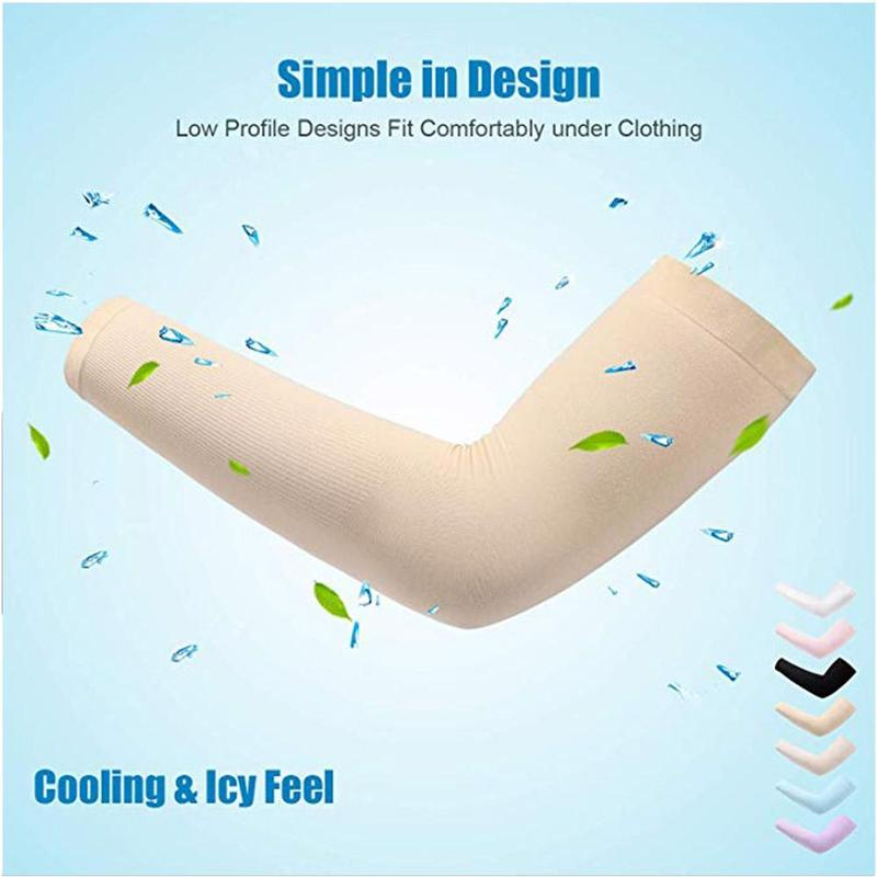 1 Pair Men Women Arm Sleeves Summer Sun UV Protection Cycling Running Fishing Clambing Driving Arm Cover Hot Sale Dropshipping 1