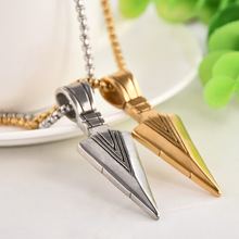 ATGO Charm Darts High Polished Men's Arrow Head Pendant Chain Necklace Stainless Steel Jewelry For Best Friend Gift LS2255