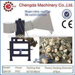 QMJ16 PTO użycie na zewnątrz maszyna do cięcia drewna opałowego z kołem w Maszyny do pelletu drzewnego od Narzędzia na