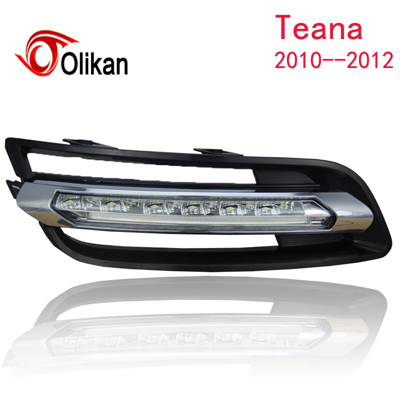 Turn off and dimming style relay LED Car DRL Daytime Running Lights for Nissan Altima Teana  2010-12 with fog daylight lamps turn off and dimming style relay led car drl daytime running lights for ford kuga 2012 2013 2014 2015 with fog lamp