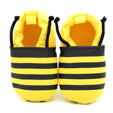 Best selling hot Yellow small bee Newborn Kids baby Boy Prewalker Soft Sole Toddler For Infant girls Sneaker First Walkers Shoes