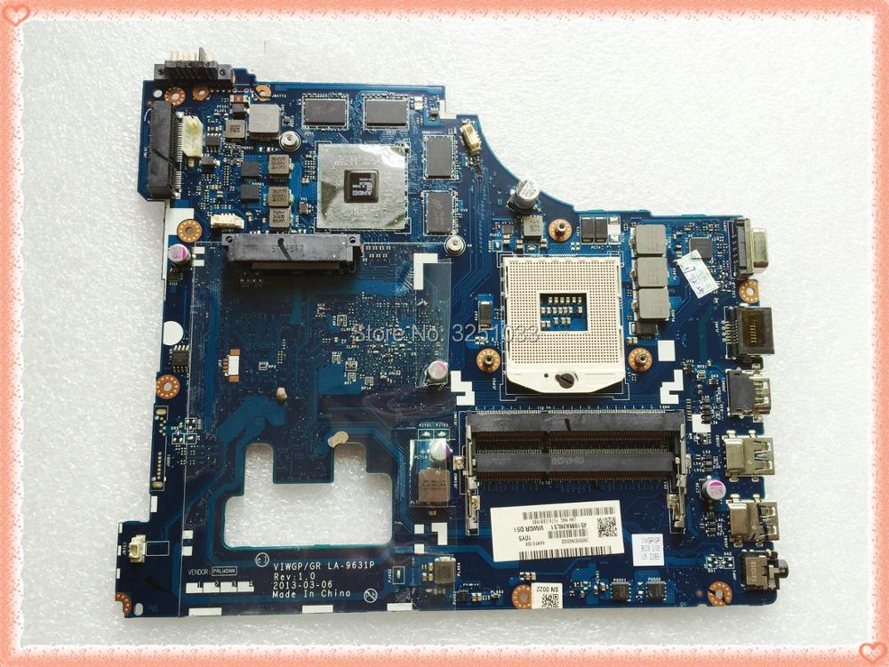 for Lenovo G500 Notebook LA-9631P Laptop motherboard VIWGP/GR LA-9631P REV:1.0 With GPU HM70 ( Support For Pentium cpu only ) industrial computer motherboards pca 6144s rev b2 with cpu