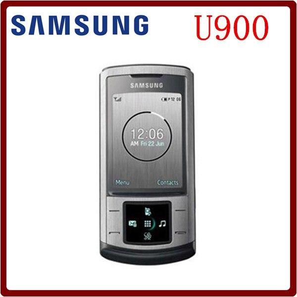 Цена за На складе Оригинальный Разблокирована Samsung U900 Soul GSM 2 МЕГАПИКСЕЛЬНАЯ Камера Слайдер Восстановленное Мобильного Телефона Бесплатная доставка