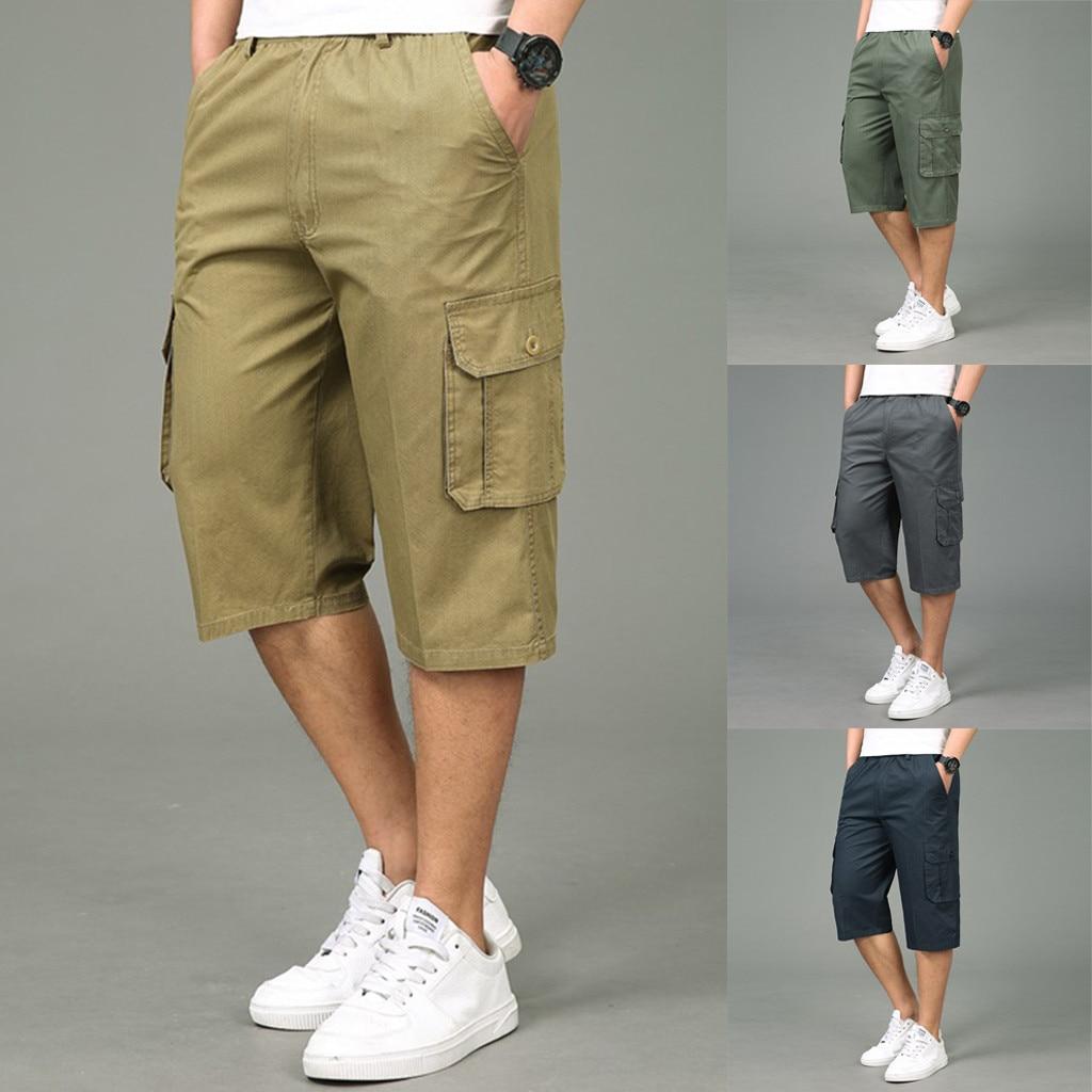 bd20d9b923b tactical pants Stylish Men's Seven Point Multi Zip Multi Pocket Built In  Corded Cargo trousers men pantalon homme -in Cargo Pants from Men's Clothing