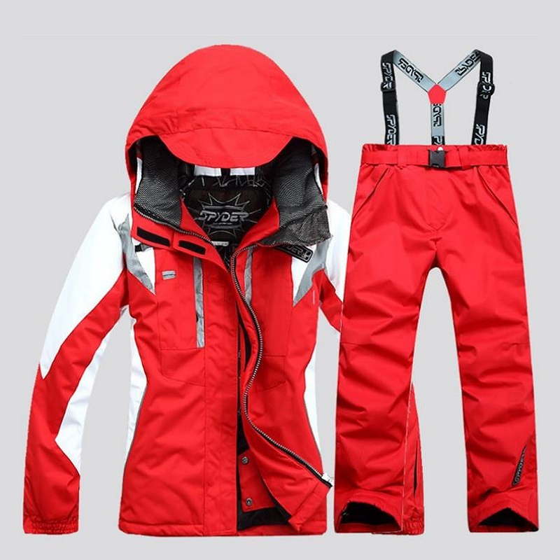 2018 Waterproof Ski Suit Women Ski Jacket Pants Female Winter Outdoor Skiing Snow Snowboard Jacket Pants