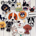 OMENG Acrylic Badges Cute Cartoon Star Pet Brooch Pet Dog Student Badge Badges Schoolbags Clothes lovely dog Accessories OXZ070
