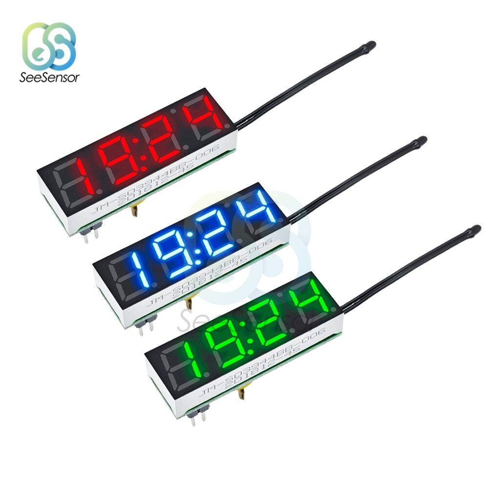 3 In 1 DS3231 LED Digital Clock Temperature Voltage Module Time Thermometer Voltmeter Volt Meter Monitor DC 5V-30V