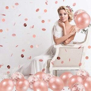 Image 5 - 20 個ローズゴールド混合バルーン結婚式誕生日テーブルデコレーションベビーシャワーの少年少女編独身パーティーdiy新年