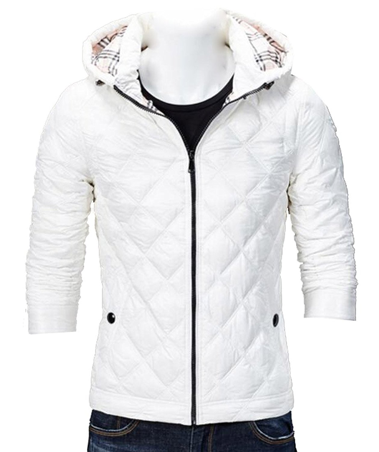 Mens Hooded Down Jacket