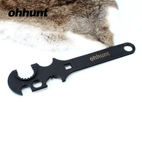 ohhunt Gunsmith Armorer's All In One Heavy Duty Stock Combo Wrench Tool for .223 5.56 AR15 M4 Rifle Hunting Gun Accessories