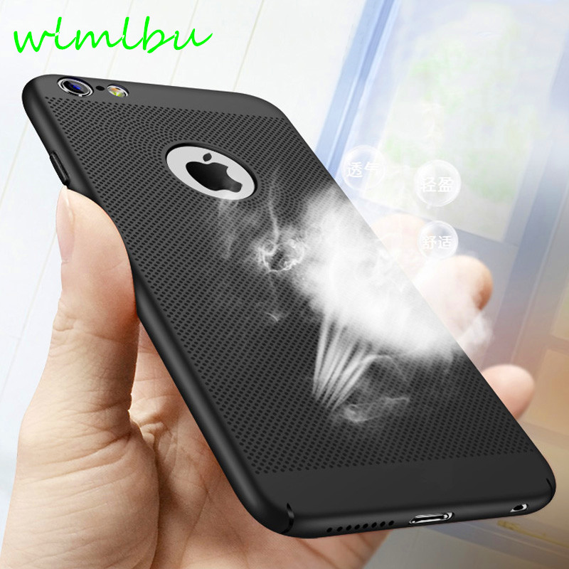 Heat dissipation phone Case For iPhone X, 6 6s plus, 8, 8 plus, 7 Plus, Cover Hard Back PC Protect Shell