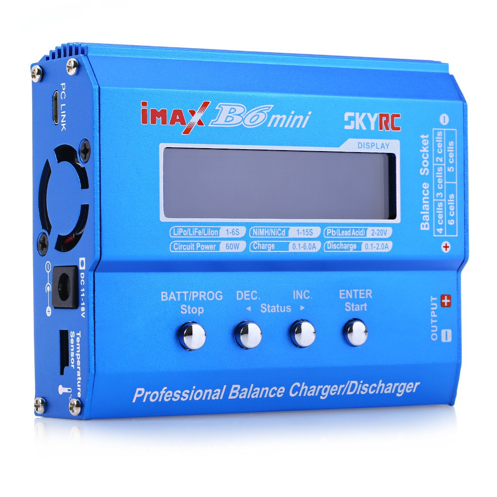 RC Quadcopter Parts SKYRC iMAX B6 Mini Professional Balance Charger / Discharger for RC Aeromodelling Battery Hot original skyrc imax b6 60w mini professional balance charger discharger for rc helicopter toy quadcopter battery charging f00032